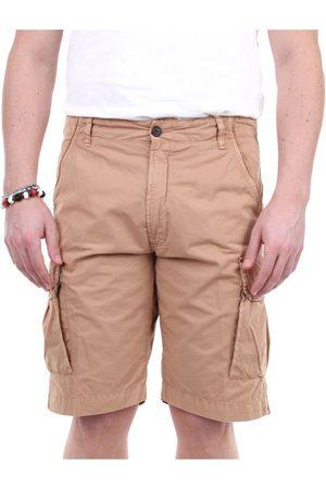 PERFECTION Men Shorts - MEN'S 20P74002CAMMELLO BEIGE COTTON SHORTS