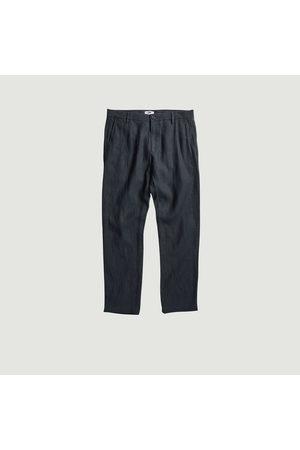 NN.07 Karl straight linen trousers Dark grey No Nationality 07