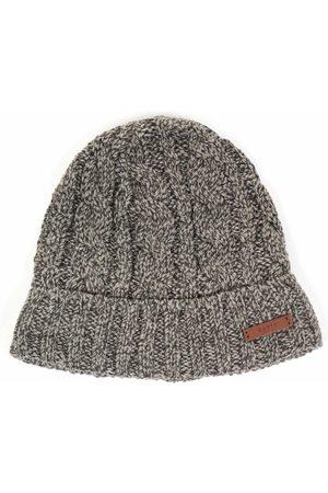 Barts Twister Turnup Beanie Hat - Grey Heather