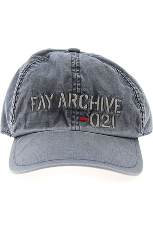 Fay MEN'S N7MF342106TRR3U809 GREY COTTON HAT
