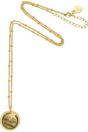 Estella Bartlett Star Charm Pendant Necklace- Plated-Labradorite