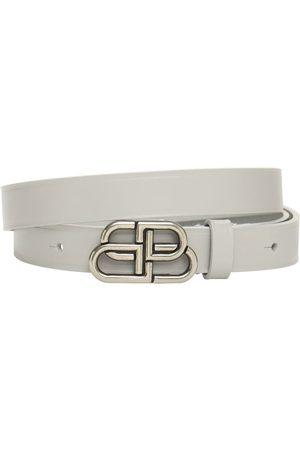 Balenciaga 2cm Bb Extra Thin Leather Belt