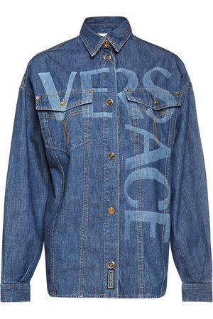 VERSACE Women Shirts - Logo Stretch Cotton Shirt