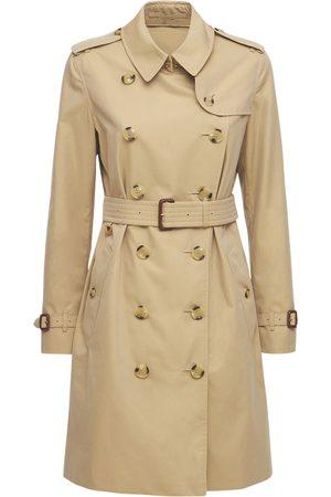 Burberry Women Trench Coats - Mid-length Kensington Canvas Trench Coat