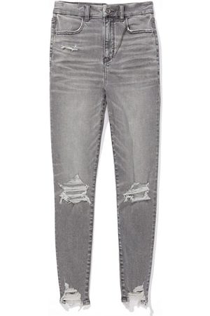 American Eagle Outfitters Women Jeggings - Next Level Ripped Curvy Highest Waist Jegging Women's 2 Long