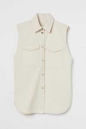 H&M Women Gilets - Oversized Denim Vest
