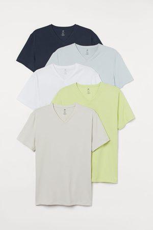 H & M Men T-shirts - 5-pack Slim Fit T-shirts