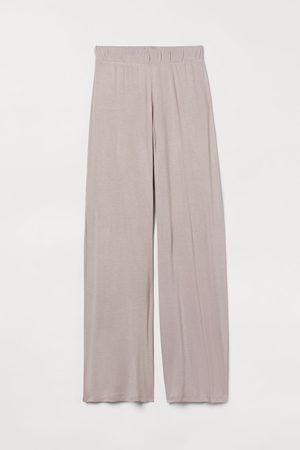 H&M Women Wide Leg Pants - Wide-leg Pajama Pants