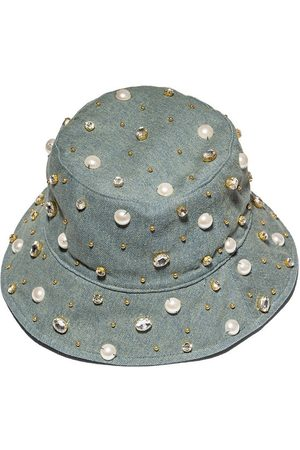 Lele Sadoughi Women Hats - DENIM JEWELED BUCKET HAT