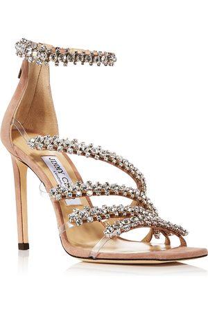 Jimmy Choo Women Heeled Sandals - Women's Josefine 100 Crystal High Heel Sandals
