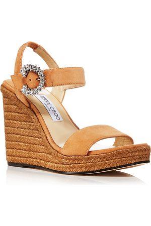 Jimmy Choo Women Heeled Sandals - Women's Mirabelle 110 Espadrille Wedge Heel Sandals
