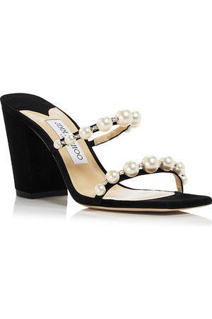 Jimmy Choo Women Heeled Sandals - Women's Amara 85 Embellished Block Heel Sandals