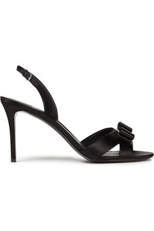 Salvatore Ferragamo Woman Lida Bow-embellished Satin Slingback Sandals Size 7.5