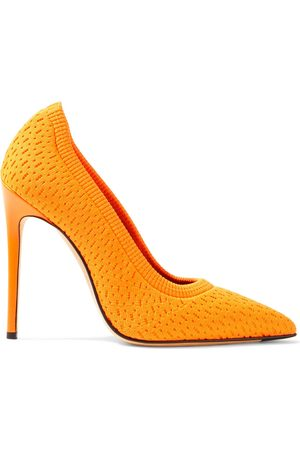 Victoria Beckham Woman Kristie Neon Stretch-knit Pumps Saffron Size 37