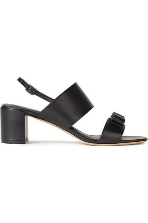 Salvatore Ferragamo Woman Giulia 55 Bow-embellished Leather Slingback Sandals Size 5.5