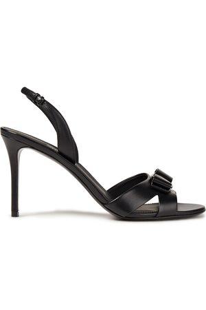 SALVATORE FERRAGAMO Woman Lida Bow-embellished Leather Slingback Sandals Size 5