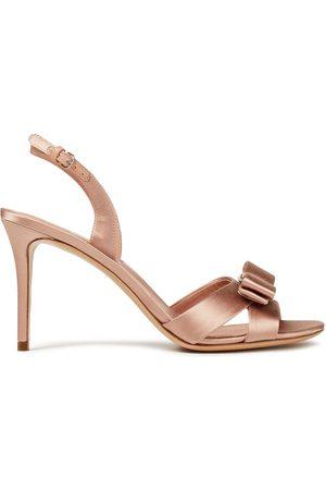 Salvatore Ferragamo Women Heeled Sandals - Woman Lida Bow-embellished Satin Slingback Sandals Antique Rose Size 6.5