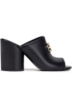 Salvatore Ferragamo Women Heeled Sandals - Woman Robins 85 Embellished Leather Mules Size 10