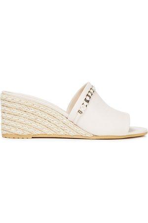Salvatore Ferragamo Woman Thassos Embellished Leather Mules Ivory Size 6