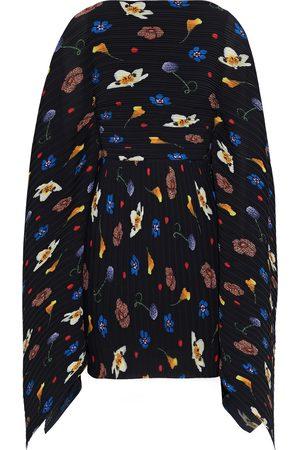 Solace Woman Chanton Floral-print Plissé-crepe Mini Dress Size 8
