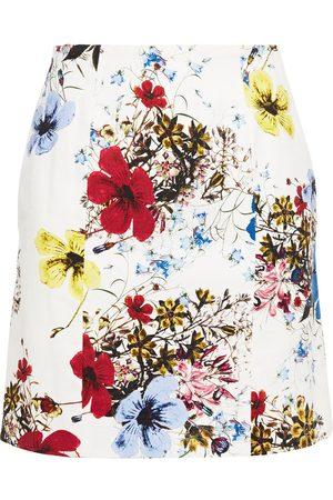 Erdem Woman Adele Floral-print Stretch-cotton Canvas Mini Skirt Size 6
