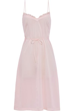 La Perla Woman Belted Lace-trimmed Stretch-silk Chemise Baby Size 2