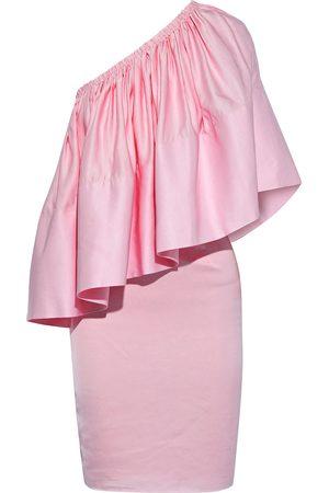 Solace Woman Layci One-shoulder Ruffled Shantung Mini Dress Baby Size 8