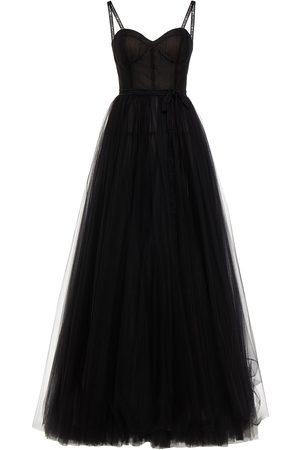 Carolina Herrera Woman Bow-embellished Gathered Tulle Gown Size 2