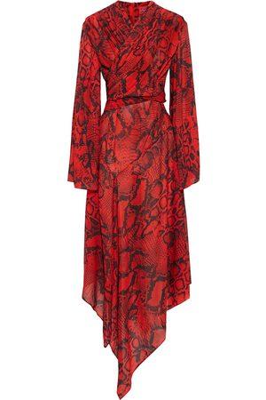 Solace Woman Nelli Wrap-effect Snake-print Crepe De Chine Midi Dress Size 8