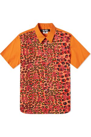 Comme des Garçons Men Short sleeves - Comme des Garcons Leopard Print Short Sleeve Shirt