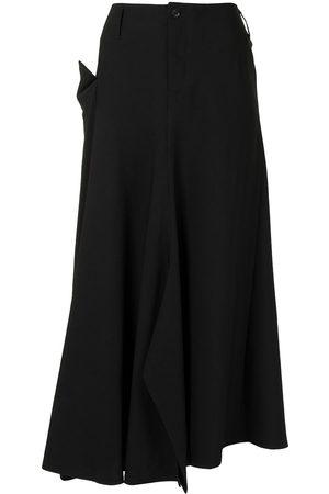 Yohji Yamamoto Women Midi Skirts - Asymmetric mid-length skirt