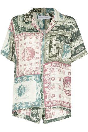 Desmond & Dempsey Women Shorts - Lamba Cuban shorts and shirt set - Neutrals
