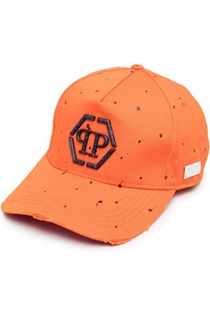 Philipp Plein Men Caps - Hexagon abstract-print baseball cap