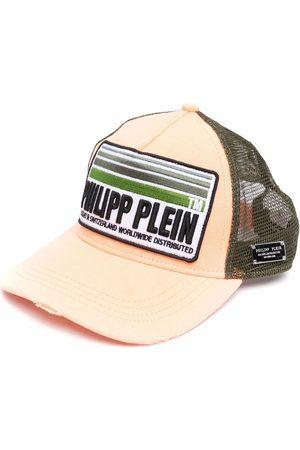 Philipp Plein Men Hats - Logo-patch cotton trucker hat