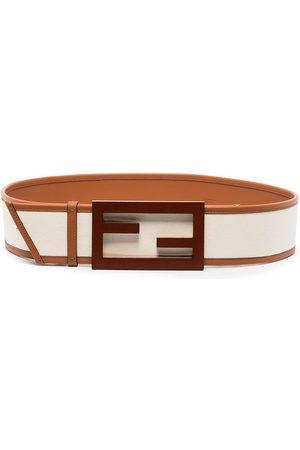 Fendi Baguette FF buckle belt - Neutrals