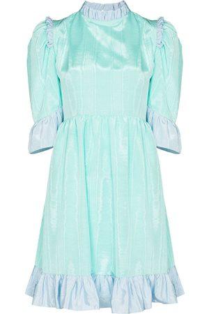 BATSHEVA Spring two-tone ruffled mini dress