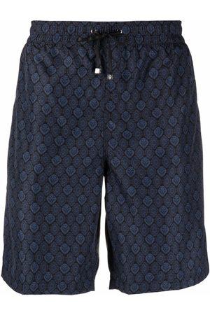 BILLIONAIRE Men Swim Shorts - Lion head-motif drawstring-waist swim shorts