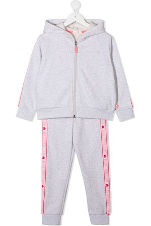 Billieblush Girls Tracksuits - Side stripe-detail zip-up tracksuit - Grey