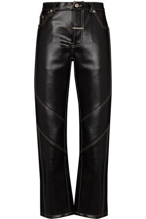 Zilver Desert faux-leather trousers
