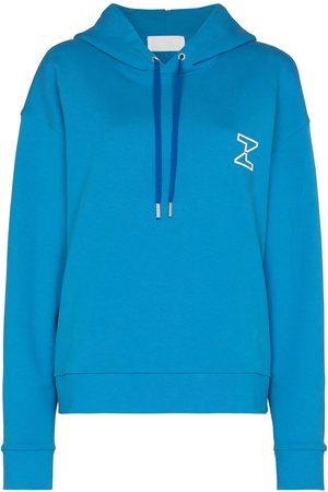 Zilver The Zed logo print hoodie