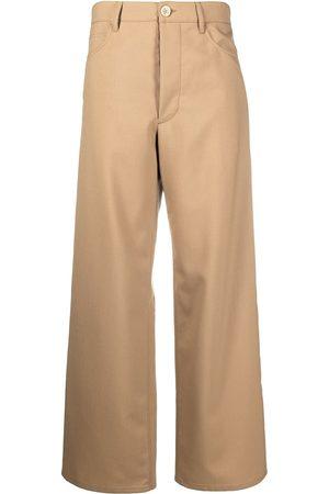 Marni High-waisted straight-leg trousers - Neutrals