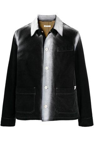 Marni Men Jackets - Painted corduroy shirt jacket