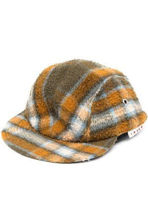 Marni Check pattern wool cap