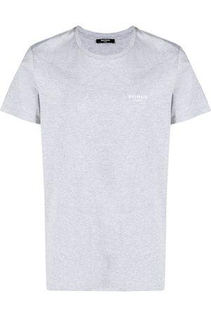 Balmain Men T-shirts - Logo-print T-shirt - Grey