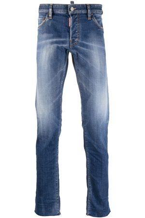 Dsquared2 Men Skinny - Raw-edge low-rise skinny jeans