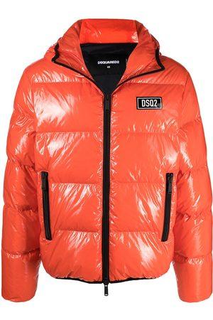 Dsquared2 Men Puffer Jackets - High-shine padded jacket