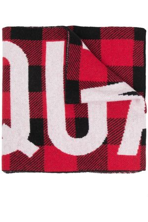 Dsquared2 Patterned intarsia-knit scarf