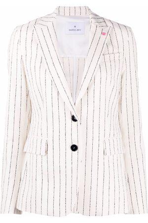 Manuel Ritz Women Blazers - Striped single-breasted blazer