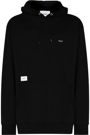 Wtaps Logo patch brushed-effect hoodie