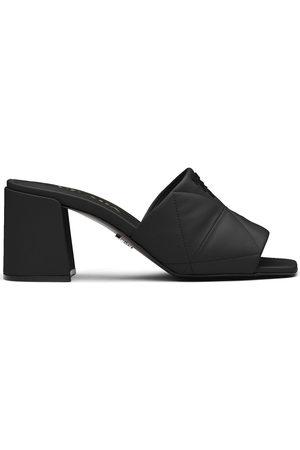 Prada Logo-lettering quilted sandals